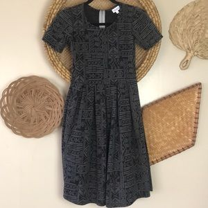 Lularoe Amelia Textured Print Dress